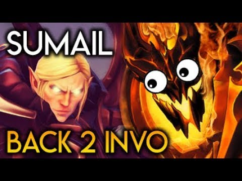SumaiL Back to Invoker vs Noob Shadow Fiend? MID Double Perspective Dota 2