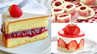 Awesome DIY Homemade Strawberry Cake Recipe Ideas by Yummy