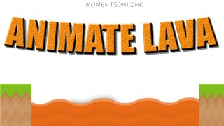 ANIMATE A SEA OF LAVA IN GDEVELOP game engine