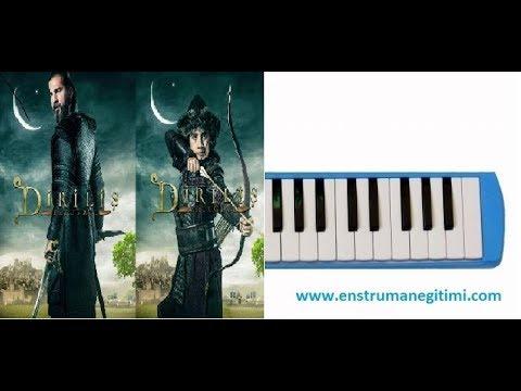 Melodika Eğitimi - Diriliş 5.Sezon Müziği Ertuğrul Bey - Altın Yay Üç Gümüş Ok Melodika
