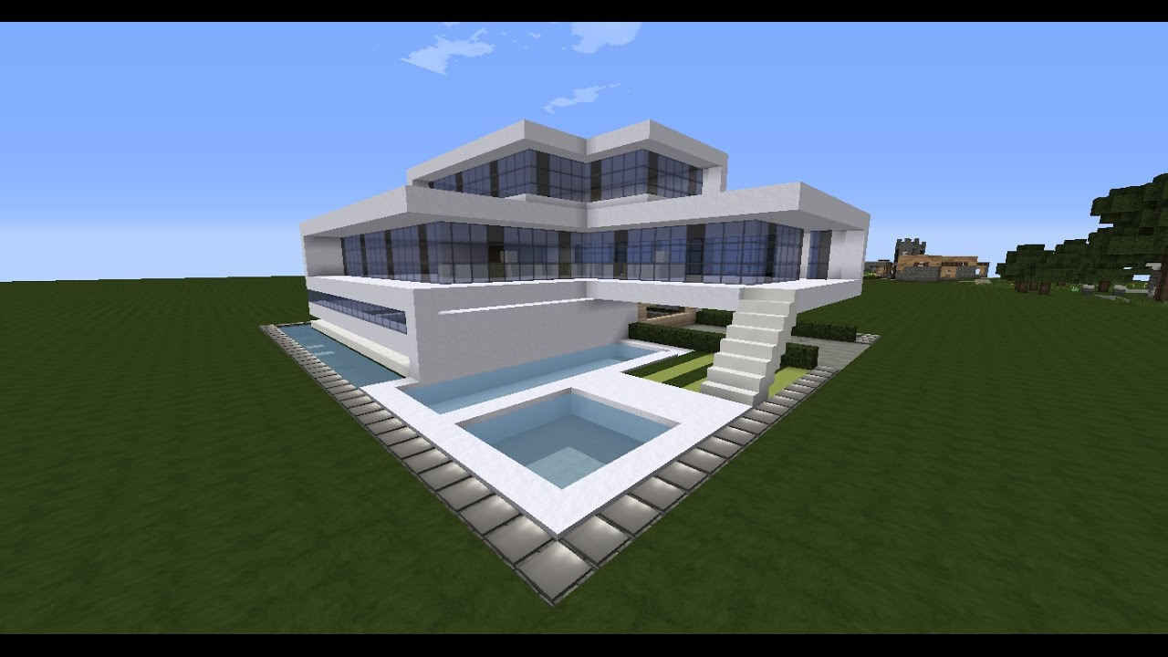 Minecraft modern house tutorial best modern house 2016 for Modern house 2016