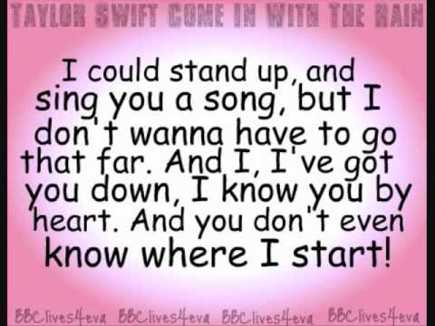 Come In With The Rain Lyrics by Taylor Swift