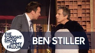 "Ben Stiller ""Surprises"" Jimmy by Dressing Up as Hashtag for Tonight Show's Fifth Anniversary"