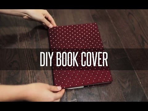 DIY SLIP ON BOOK COVER