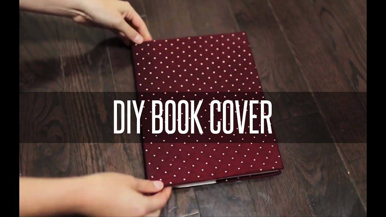 Fabric Book Cover Ideas ~ Diy slip on book cover youtube