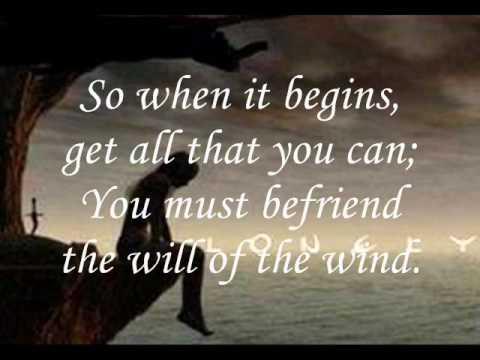 the will of the wind lyrics