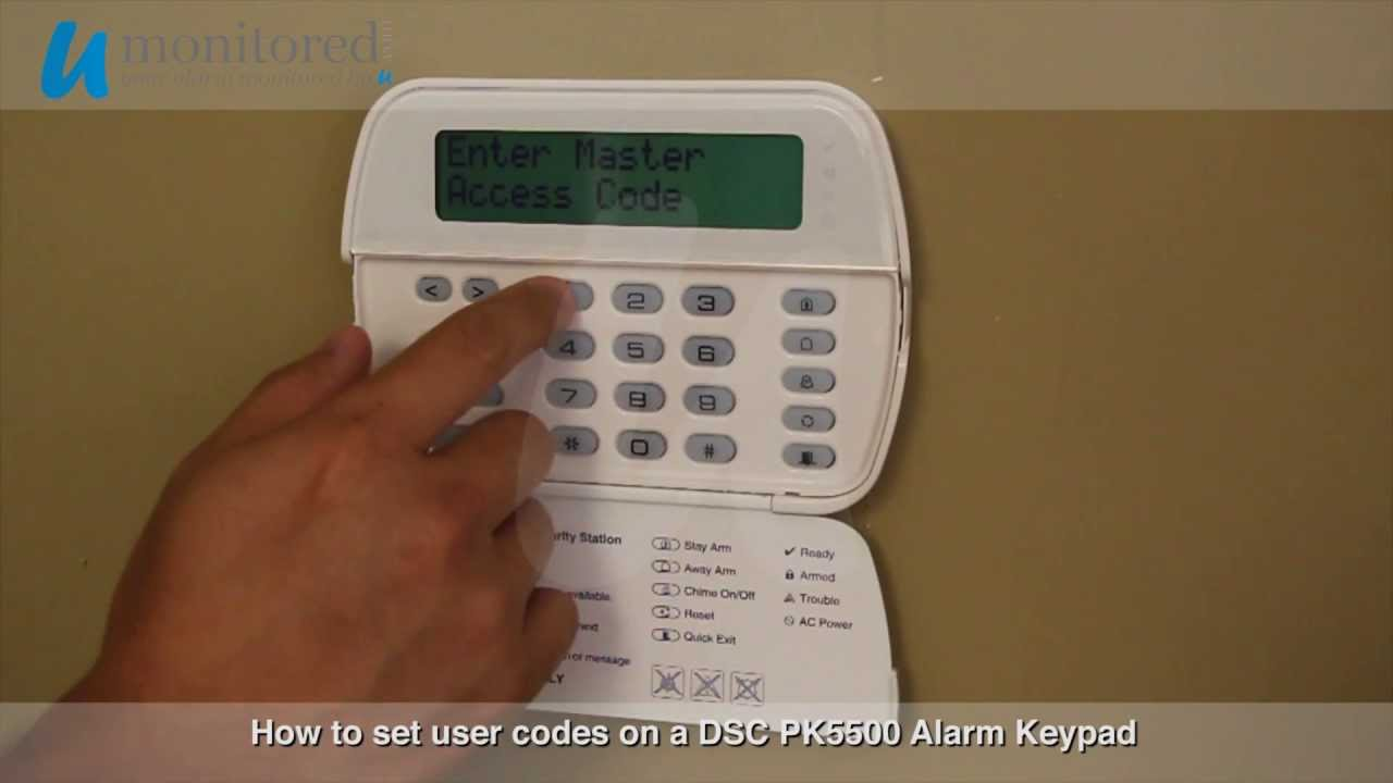 dsc program user codes on a dsc pk5500 alarm keypad youtube rh youtube com PK5501 Keypad Manual PK5501 User Manual