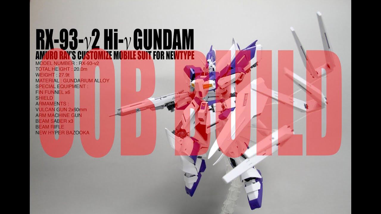044 Mg Rx 93 2 Hi Nu Gundam Verka Oob Review Pt2 Youtube Rx78 114215