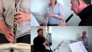 Lonarc Oboe Trio  play Rondo (4th movt) from Johann Wenth's Divertimento in Bbmaj
