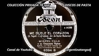 MIGUEL CALÓ & RAÚL IRIARTE: ME DUELE EL CORAZÓN - VALS