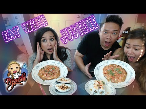 Collab w/ PizzUshi.LA (PIZZA + SUSHI?!) | mukbang