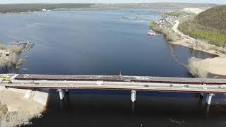 Завершилась работа по гидроизоляции на новом автомобильном мосту через реку Сок город Самара