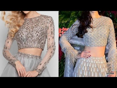 Designer Crop Top Lehengas Choli Designs Latest Beautiful Stylish Blouse Designs 2020 Youtube