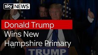 Donald Trump Wins New Hampshire Primary
