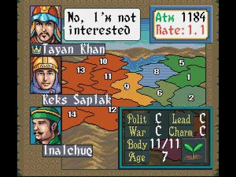 SNES Longplay [545] Genghis Khan II - Clan of the Gray Wolf