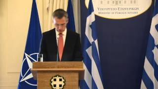 NATO Secretary General - Joint press point with Greek Foreign Minister