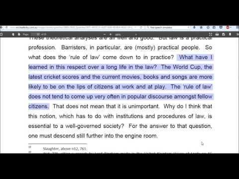 Common Law Rights Australia , Opinion From Longest Serving Judge.