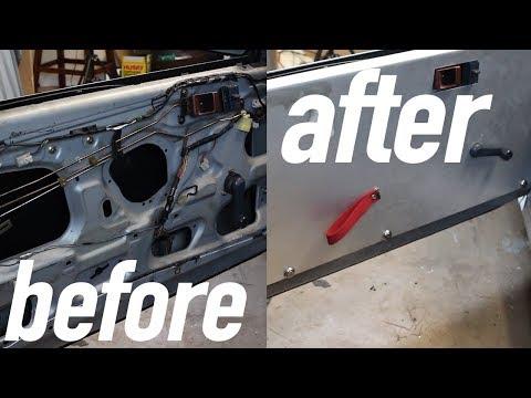 Aluminum Door Panel + Sunroof Delete Install In The FC RX-7