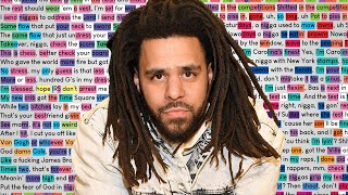 J. Cole - LA Leakers Freestyle | Rhymes Highlighted