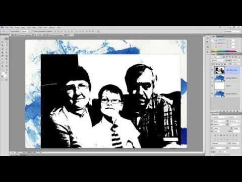 Пример как сделать стильное акварельное фото