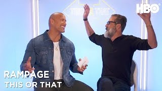 Dwayne Johnson & Jeffrey Dean Morgan: This Or That | Rampage (2018) | HBO