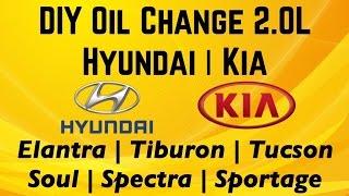 DIY Hyundai Kia 2.0L Oil Change Elantra Tiburon Tucson Soul Spectra  Spectra5 Sportage - YouTubeYouTube