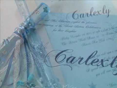 Sweet Sixteen Scroll Roll Invitations - Invitaciones de XV años ...