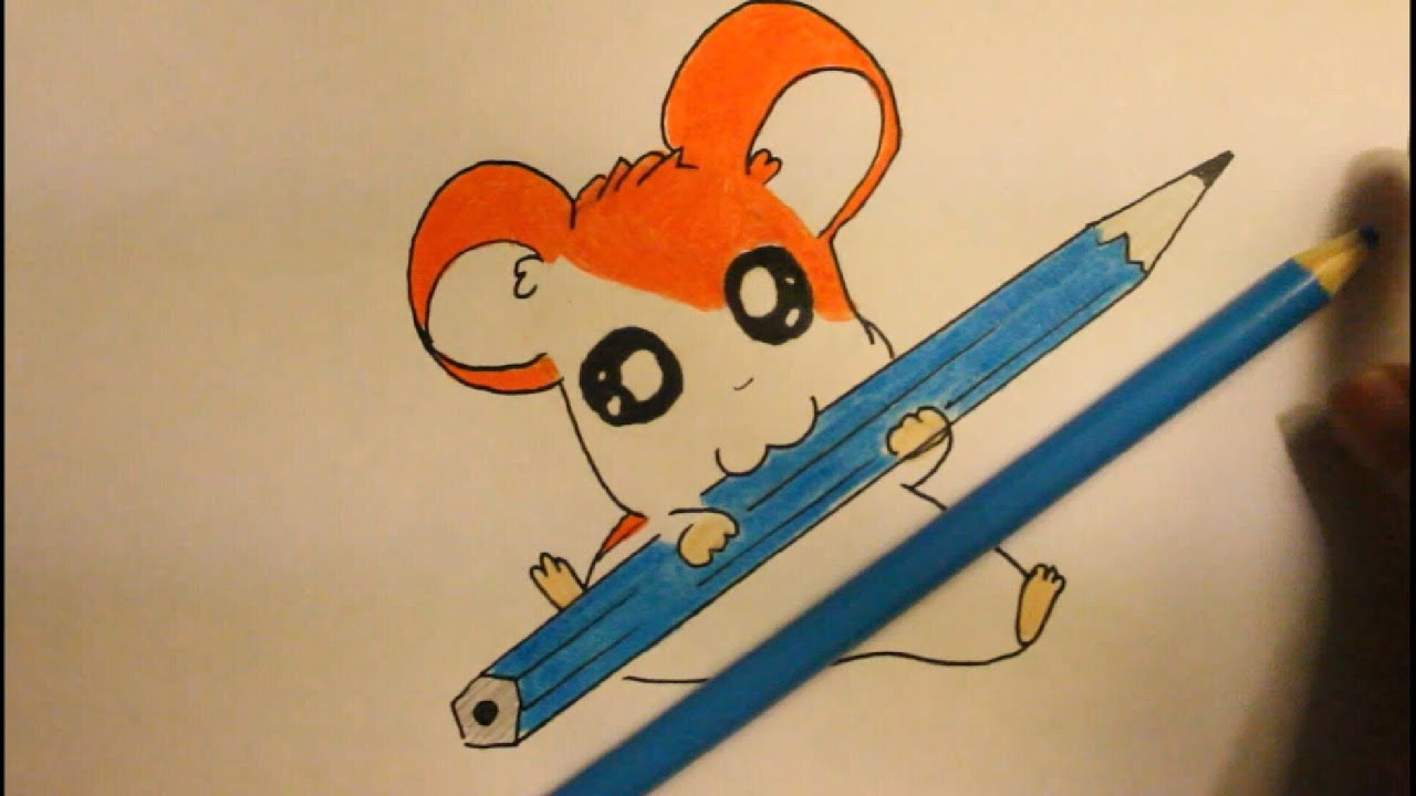 how to draw hamtarocartoon hamsterstep by stepeasy