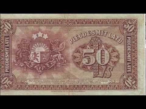 Banknotes of Latvia / Latvian lats currency bank notes, paper money collection.