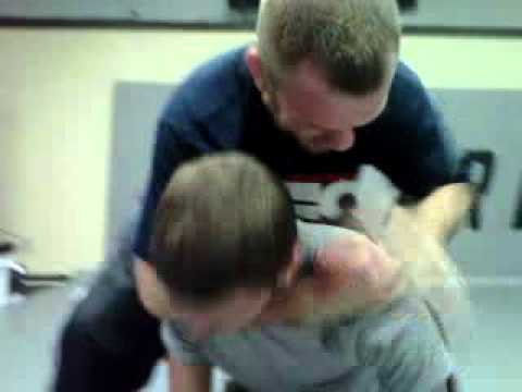 how to get out of a rear choke hold