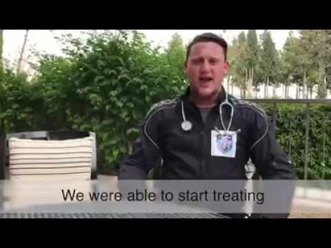 UH volunteers treat Blind Arab Girl on Yom Hazikaron