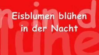 Eisblume  Eisblumen with Lyrics
