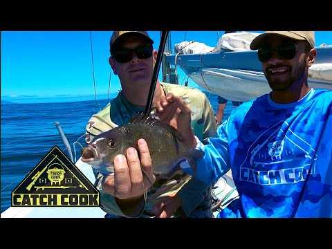 Catching your first fish off a yacht! | catch cook | Robben Island, South Africa