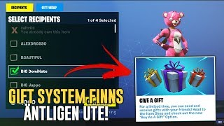 NOW THERE IS FINALLY GIFTING OUT!! (MARRY SKINS TO YOUR FRIENDS)-FORTNITE IN ENGLISH