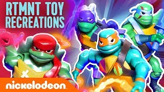 Rise of the TMNT Toys Fight Meat Sweats, Do Challenges & More! 🐢 | Nick