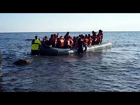 Balloon boats lapalapa crossing of Mediterranean Libya to Italy by African migrants