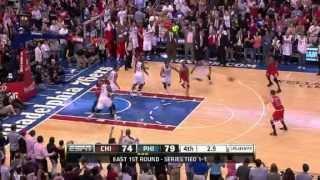 nba playoffs 2012 chicago bulls vs philadelphia 76ers game 3 highlights   may 4 2012