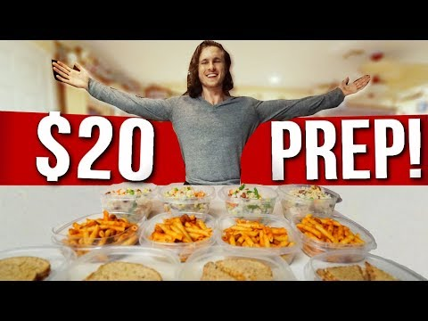 $20 FOR A WEEK OF VEGAN FOOD | Cheap & Easy Meal Prep!