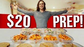 $20 FOR A WEEK OF VEGAN FOOD | Cheap & Easy Meal Prep!