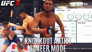 EA Sports UFC 3 Career Mode: Increasing My Power! Crippling Knockouts! Pro Difficulty