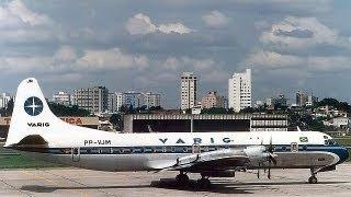 Lockheed Electra L-188-Varig - Santos Dumont to São Paulo Congonhas