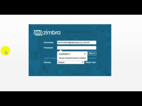 How To Login Zimbra Mail
