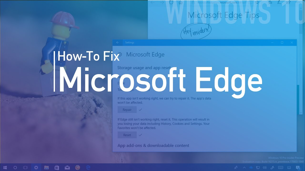 How to repair or reset Microsoft Edge to fix any issues on Windows 10