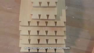 Queen Anne Lowboy Dressing Table Building Process By Doucette And Wolfe Furniture Makers