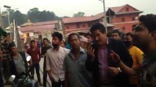 Ganesh Thapa got slab at Aaryeghat Pashupati