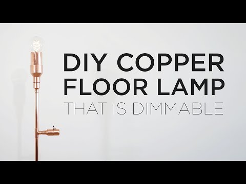 DIY Lamp made out of Copper Pipe
