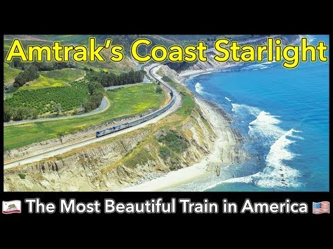 Relaxing 🌴 Pacific Coast Starlight Train from Los Angeles in 4k 🌴