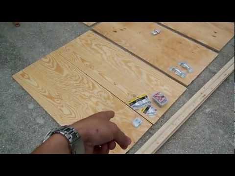 Homemade Wooden Beef Jerkey Smoker Box Part 1 - DIY How to build a food smoker