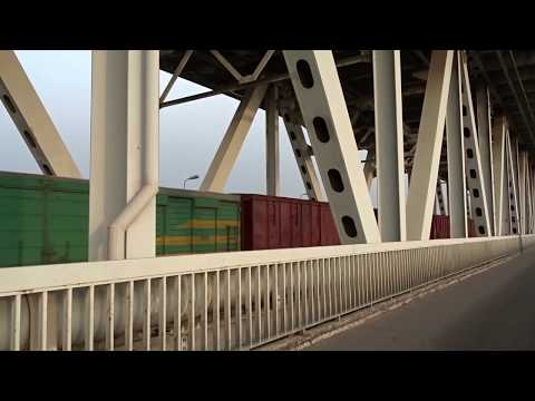 Cargo Train at Thang Long Bridge, Hanoi (2014)