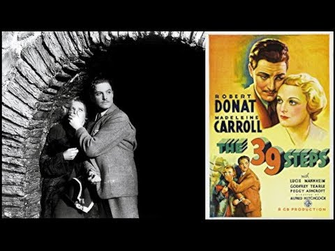 The 39 Steps | 1935 - FREE MOVIE!  Improved Quality:  Mystery/Thriller/Suspense: With Subtitles